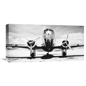 'Passenger Airplane on Runway' Photographic Print on Wrapped Canvas by Latitude Run