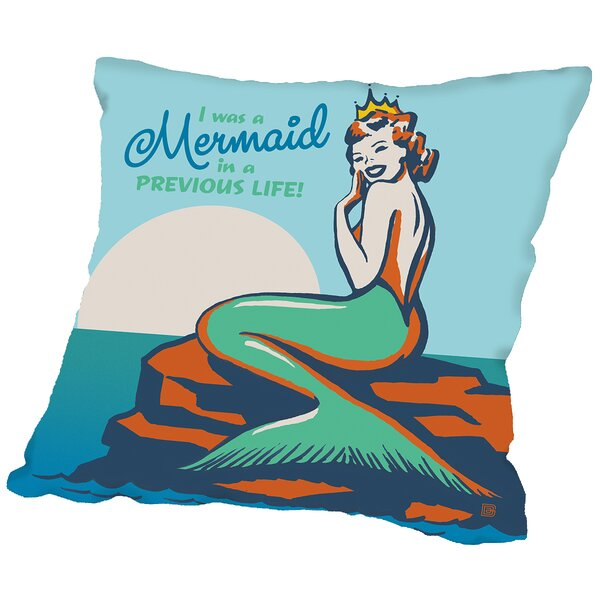 Mermaid in A Previous Life Throw Pillow by Americanflat