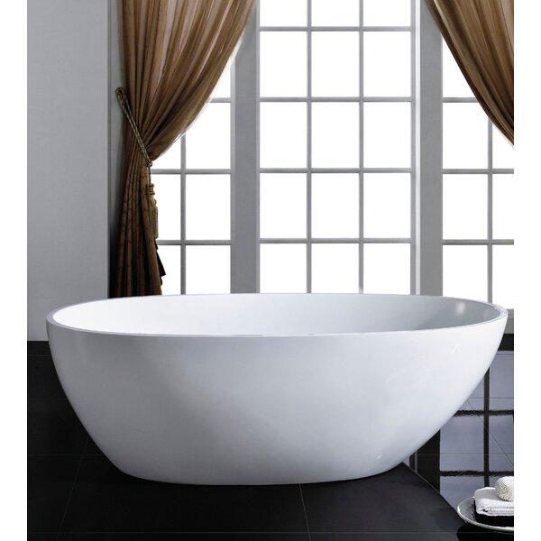Sarah 34 x 67 Soaking Bathtub by Eviva