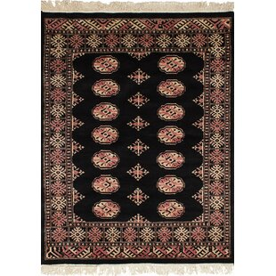 Affordable One-of-a-Kind Do Hand-Knotted Wool Black Indoor Area Rug By Isabelline