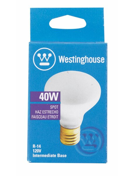 40W E17 Dimmable Incandescent Edison Spotlight Light Bulb by Westinghouse Lighting