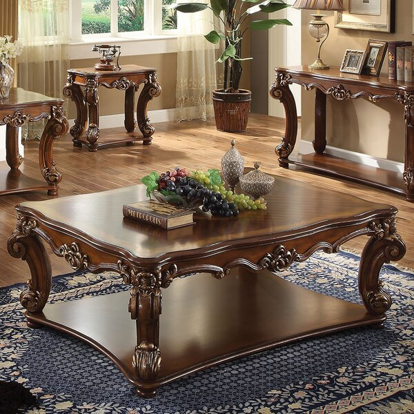 Vendome Solid Wood Coffee Table With Storage By A&J Homes Studio