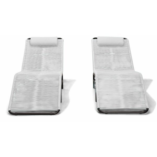 Ehrlich Single Chaise Lounge Cushion and Table (Set of 2) by Ivy Bronx Ivy Bronx