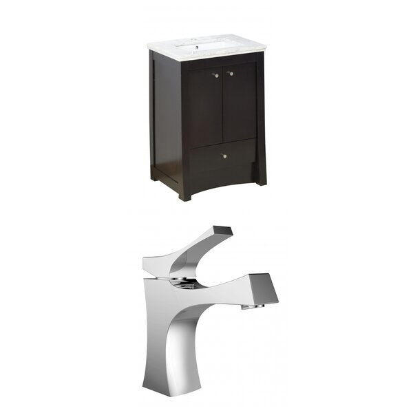 Kimbrell Exquisite Floor Mount 24 Single Bathroom Vanity Set by Royal Purple Bath Kitchen