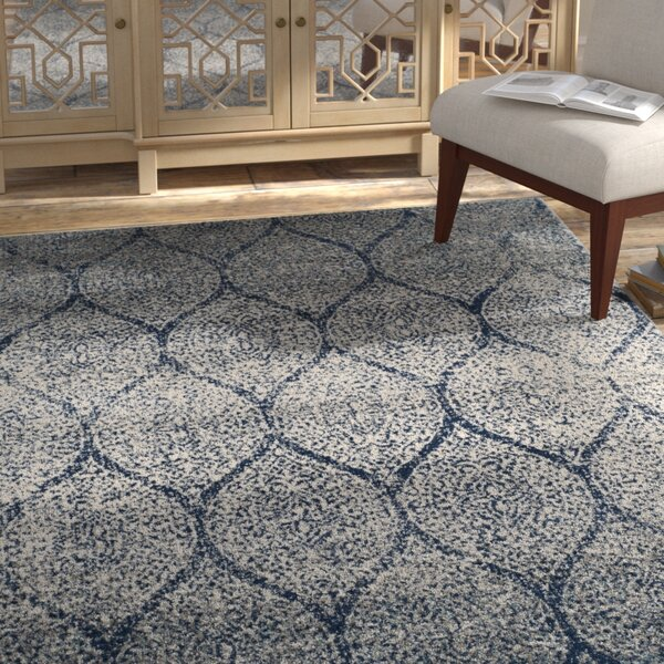 Grieve Blue/Gray Area Rug by Bungalow Rose