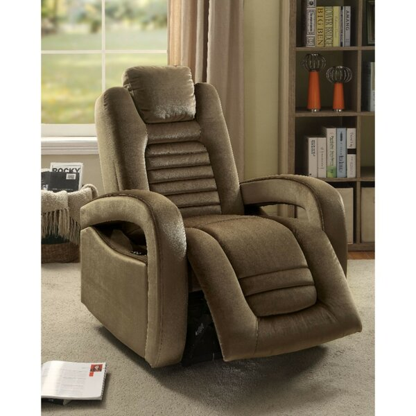 Cliona Upholstered Power Rocker Recliner by Latitude Run