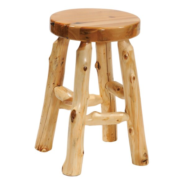 Traditional Cedar Log Accent Stool by Fireside Lodge
