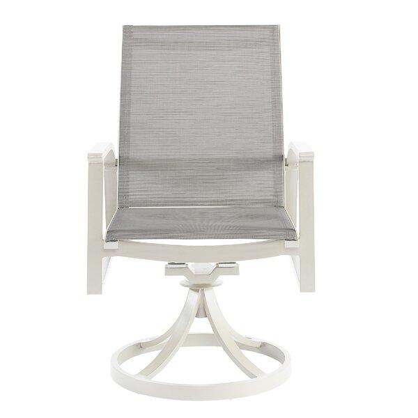Dani Swivel Patio Dining Chair (Set of 2) by Highland Dunes Highland Dunes