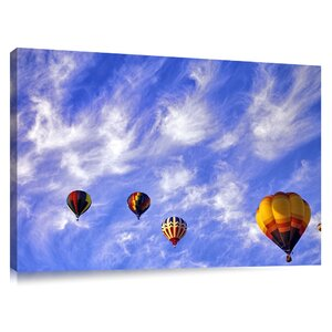 'Hot Air Balloons Taking off' by Dennis Frates Photographic Print on Canvas by Colossal Images