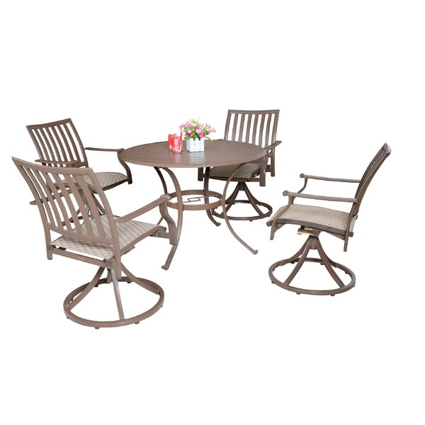 Island Breeze 5 Piece Slatted Dining Set by Panama Jack Outdoor