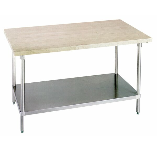Prep Table with Wood Top by A-Line by Advance Tabco