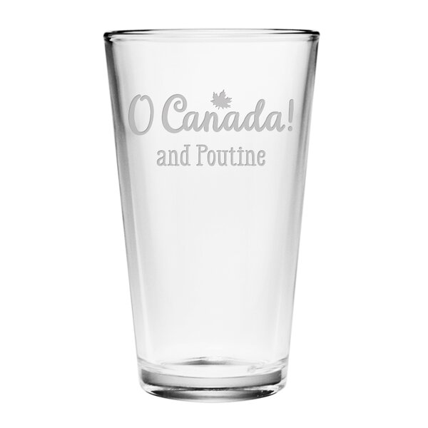 O Canada! and Poutine 16 oz. Pint Glass (Set of 4) by Susquehanna Glass