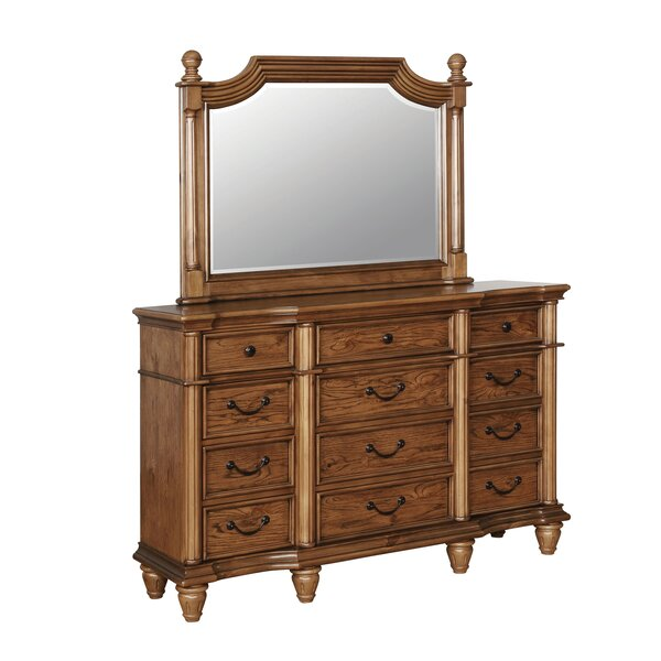 Bowyer 12 Drawer Dresser with Mirror by Darby Home Co