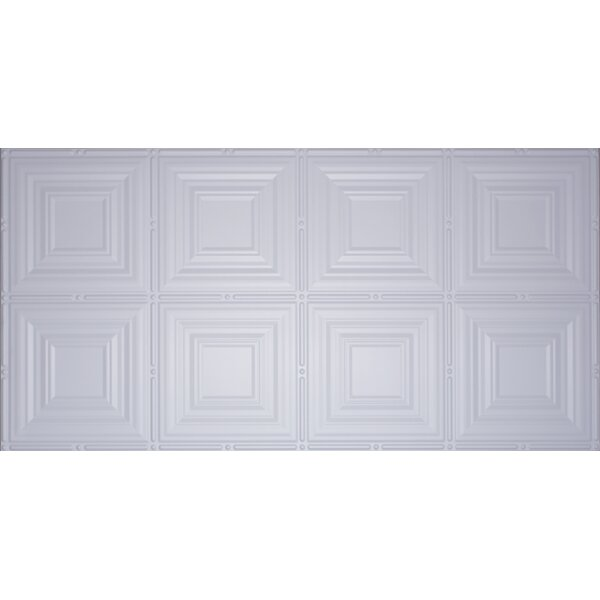 Glue Up Square 2 X 4 Tin Ceiling Tile In White By Global Specialty Products.