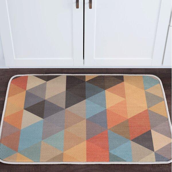 Weitzman Triangles Foam Core Bath Rug by George Oliver