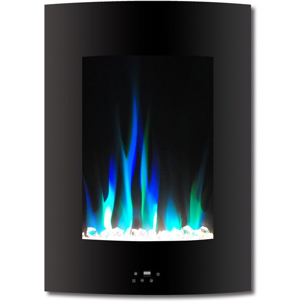 Betria Crystal Display Vertical Wall Mounted Electric Fireplace by Ebern Designs