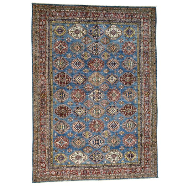 One-of-a-Kind Tilomar Hand-Knotted Navy Blue Area Rug by Millwood Pines
