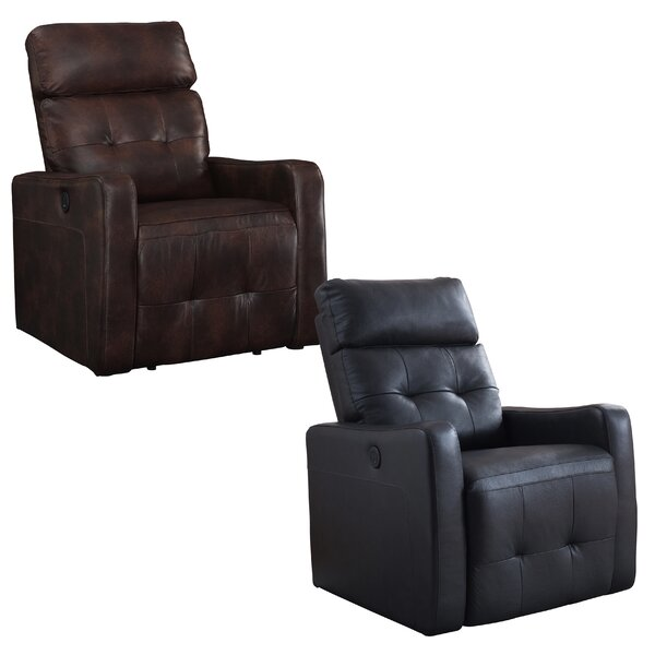 Pierce Leather Power Recliner by Red Barrel Studio