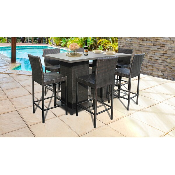 Fernando 8 Piece Bar Height Dining Set by Sol 72 Outdoor