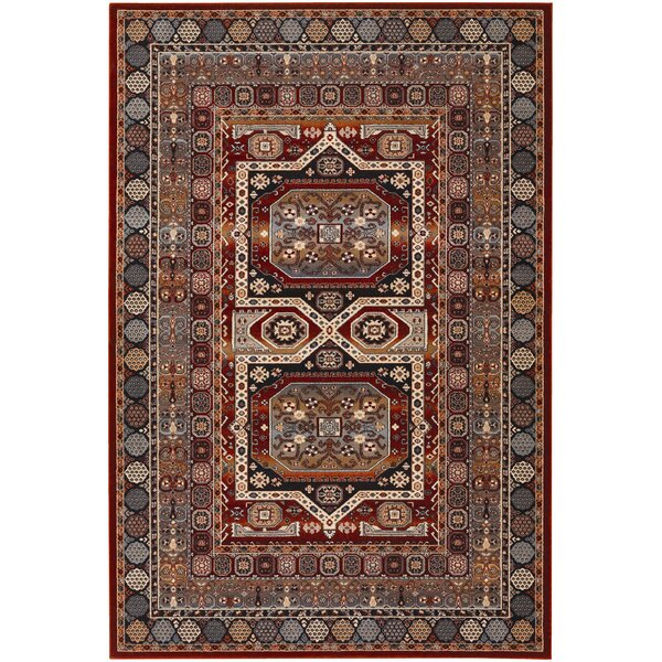 Alliance Brown/Burgundy Area Rug by World Menagerie