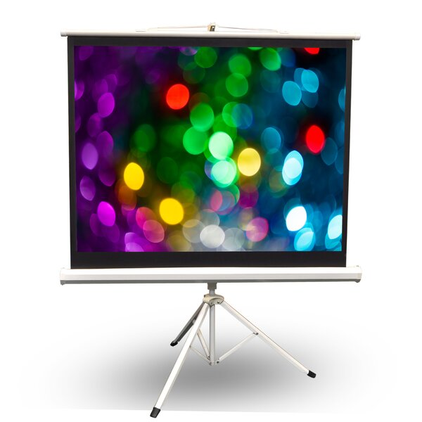 White Portable Projection Screen By Pyle