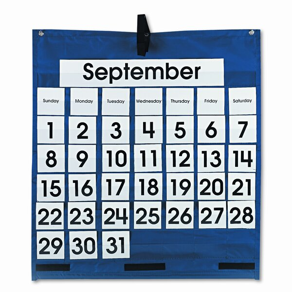 Monthly Calendar 43 Pocket Chart by Carson-Dellosa Publishing