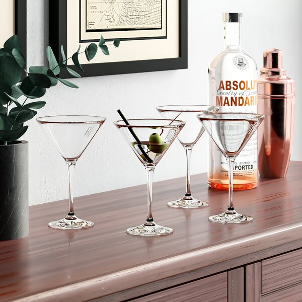 Monogrammed Classic Martini Glasses (Set of 4) by Birch Lane™