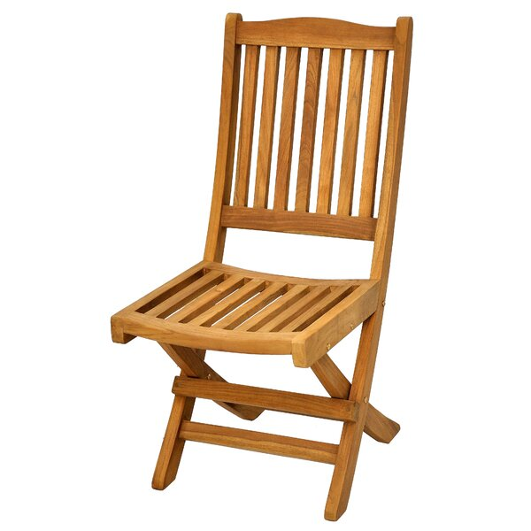 Trinidad Folding Teak Patio Dining Chair by Casual Elements