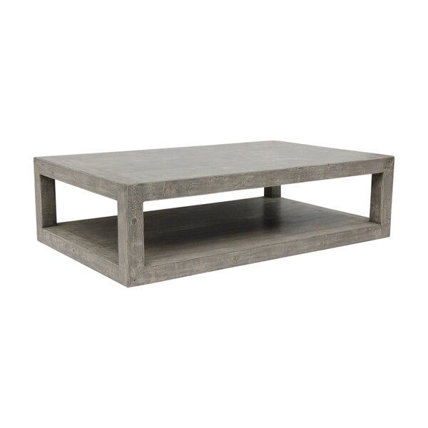 Natsumi Solid Wood Floor Shelf Coffee Table With Storage By Gracie Oaks
