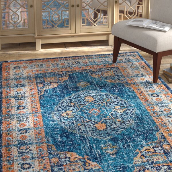 Durr Blue Area Rug by Bloomsbury Market