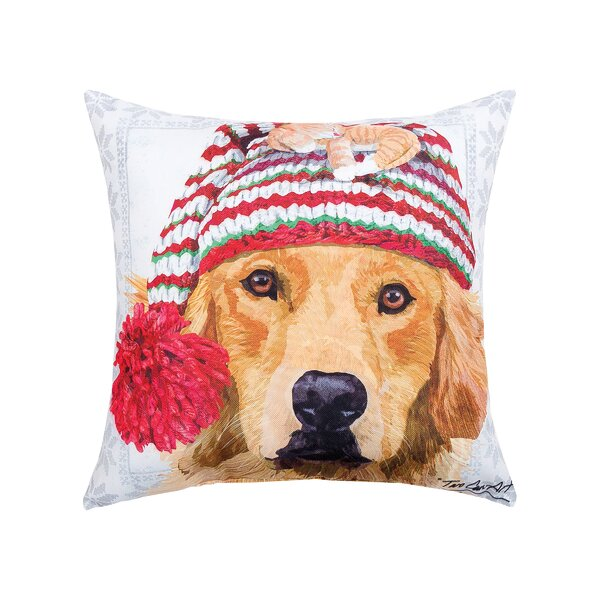 Feltman Winter Hat Golden Indoor/Outdoor Throw Pillow by The Holiday Aisle
