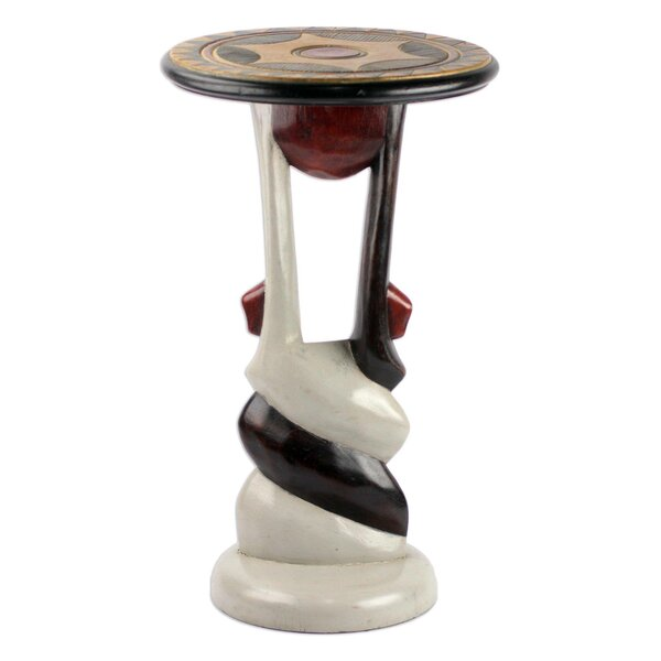 Penem African Twist Wood End Table by Bloomsbury Market
