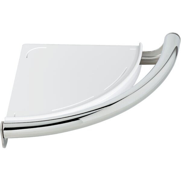 Bath Safety 8.75 Grab Bar with Corner Shelf by Delta
