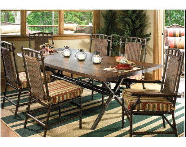 Chatham Rectangular Wooden Dining Table by Woodard