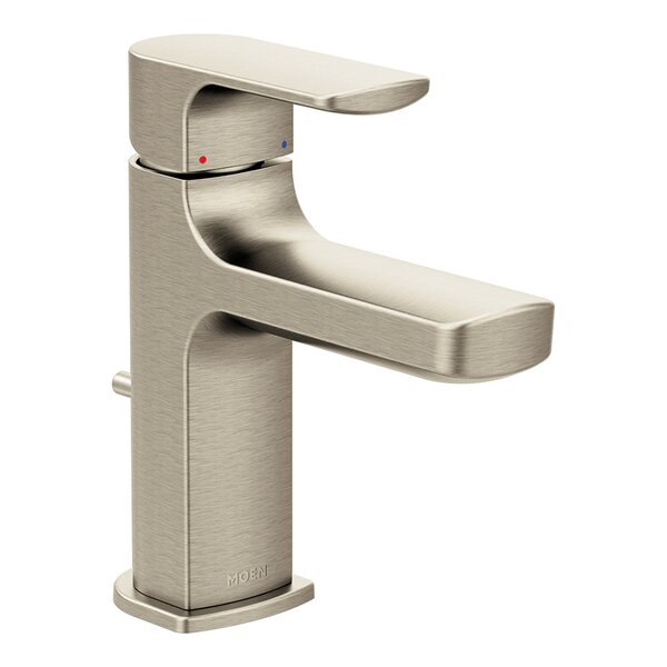 Rizon Low Arc Bathroom Faucet with Drain Assembly by Moen