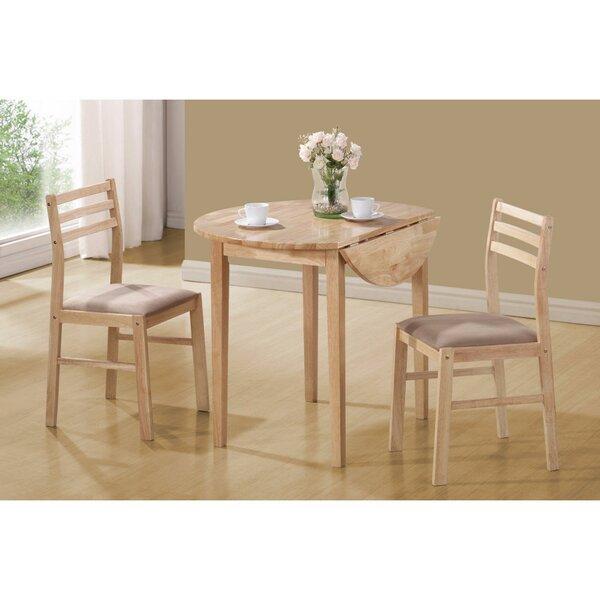 Karns Sophisticated 3 Piece Extendable Breakfast Nook Solid Wood Dining Set by Winston Porter