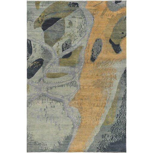 Milstead Sea Foam/Mocha Area Rug by Brayden Studio