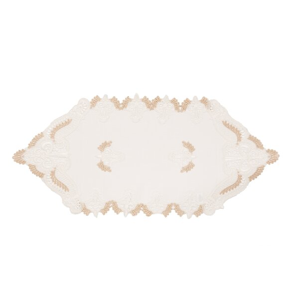 Monticello Elegant Lace Embroidered Cutwork Table Runner by Ophelia & Co.