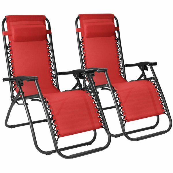 Pittsfield Reclining Zero Gravity Chair with Cushion (Set of 2) by Freeport Park Freeport Park