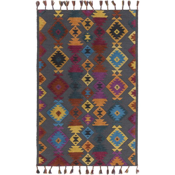 Sneed Geometric Hand-Woven Multi Color Area Rug by Loon Peak