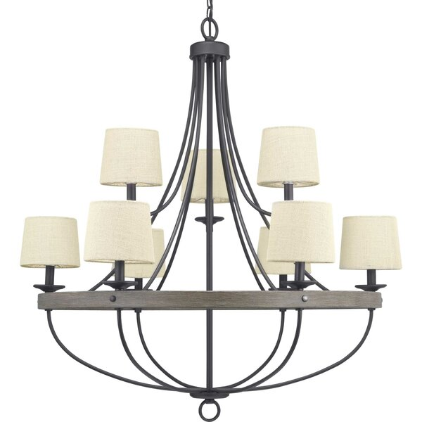 Kingsley 9 - Light Shaded Empire Chandelier By Three Posts