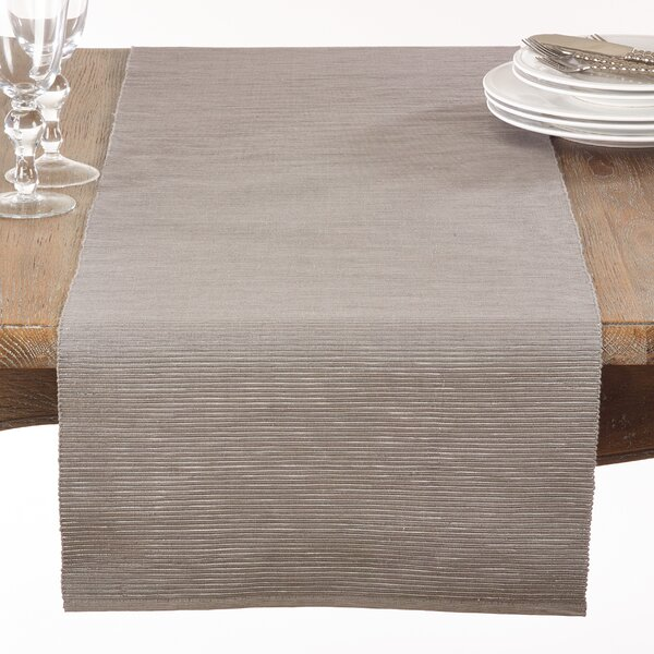 Duclos Shimmering Table Runner by Charlton Home