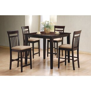 Wagstaff 5 Piece Counter Height Dining Set ByBreakwater Bay