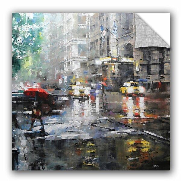 Mark Lague Manhattan Red Umbrella Wall Decal by ArtWall