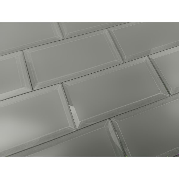 Frosted Elegance 3 x 6 Glass Subway Tile in Matte Gray by Abolos