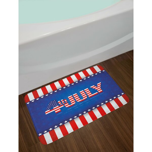 4th of July Independence Themed Holiday Design Bath Rug by East Urban Home