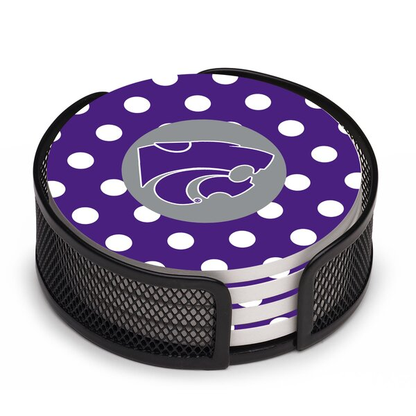 5 Piece Kansas State University Dots Collegiate Coaster Gift Set by Thirstystone