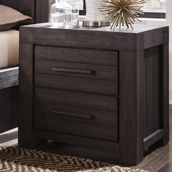 Robbs 2 Drawers Nightstand by Union Rustic