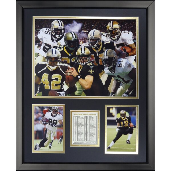 NFL New Orleans Saints - 2009 Champs Framed Memorabili by Legends Never Die