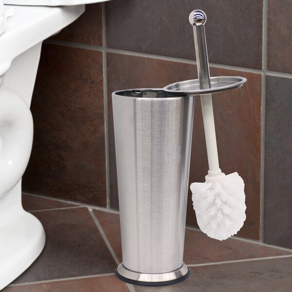 Tapered Free Standing Toilet Brush and Holder by Sweet Home CollectionTapered Free Standing Toilet Brush and Holder by Sweet Home Collection
